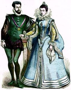 Plate #46c - Second Third of the Sixteenth Century. French Court Dress