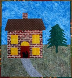 Cat House mini quilt by Cat Patches