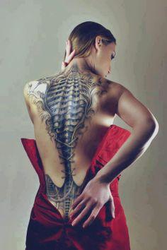 Spinal Tattoo #tattoos, #spines, #art, #bestofpinterest, https://facebook.com/apps/application.php?id=106186096099420