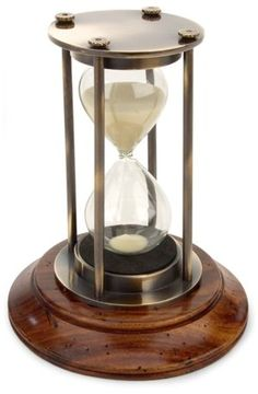 "Bronzed 30 Minute Hourglass 5.25"" x 3.25"""