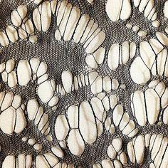 lace knit, silk