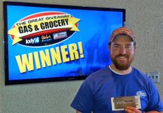 Congratulations to Andy Smith for winning $100 in The Great Gas & Grocery Giveaway from KXLY4, Divine's & Yokes!