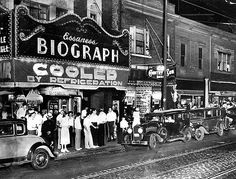 The Biograph Theater as it appeared in 1934. The theater is where Dillinger was gunned down by FBI agents.