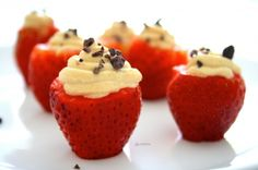 Peanut Cream Filled Strawberries