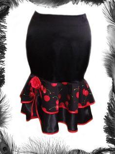 easy diy with a cheap mini skirt and 1 yard of 2 diff fabrics!!! Summer Dress, Leopard Print, Gothic, Style, Corset, Rockabilly, Rockabilli, Design, Hat
