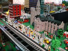 SF Bay Area Lego Users Group and Train Club--each year they do a winter exhibit in Palo Alto.  We got here too late this year, will have to plan to get here early enough to catch it next year!!