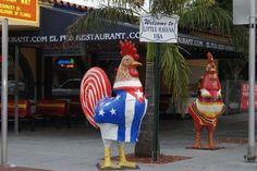Roosters on Calle Ocho, Little Havana (Miami, Florida)