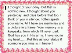 """""""I Thought Of You Today..."""""""