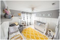 Gray and Yellow Preppy Gender Neutral #Nursery