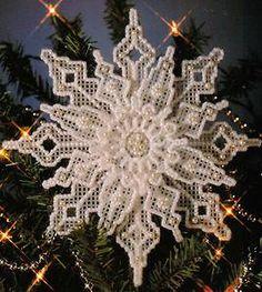 free plastic canvas snowflake patterns - Google Search