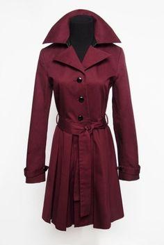 #burgundy trench coat
