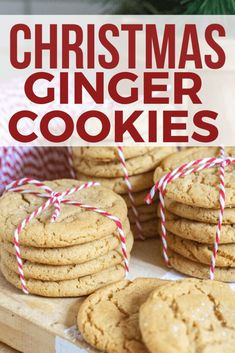 Want a soft and chewy ginger cookies recipe?  Check out these amazing Christmas cookies!  These ginger cookies are so good!  Plus they are soft and chewy, the perfect combination.  They are so easy to make too!