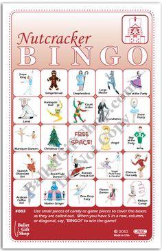 Nutcracker Ballet Bingo
