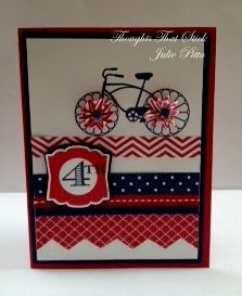 Cycle Celebration cycl celebr, scrapbook stampin, juli card, patriot card