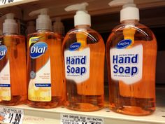 Antibacterial hand soap.  They don't call it antibiotic soap.  That's for a reason ... nobody knows what antibiotic means.  http://colinpurrington.com/2013/evidence-based-antibiotic-usage/