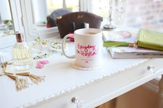 Coffee Talk with Haute Off the Rack!   Hustlin' mug available now in the Online Shop! #ispyABD // vanity styling