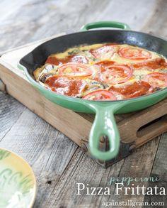 Pizza Frittata - Danielle Walker's Against All Grain