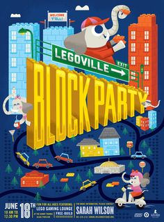 Target House Legoville Block Party by Tad Carpenter Creative