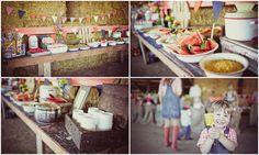 vintage barn yard party
