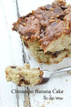 Cinnamon banana cake recipe via amy huntley (the idea room)