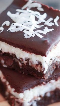 Chocolate Coconut Brownies | Celebrating Sweets