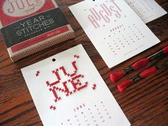 2014 Year in Stitches Calendar Kit.