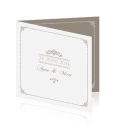 Klassieke bruiloft in taupe inspiratie bij trouwkaart on pinterest wedding hats men ties and - Kleur taupe ...