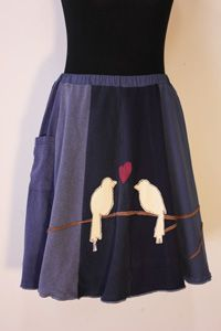 Skirts made of reclaimed fabrics by Sardine Clothing