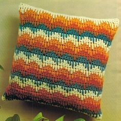 Bargello Design Crochet Pillow pattern for purchase