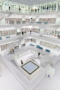 The New Stuttgart City Library - Germany.  Looks awesome, but I'm skeptical about the wisdom of using WHITE on FLOORS.