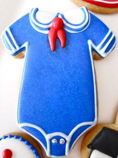 Nautical Shower Cookies