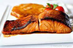Salmon with Pomegranate Glaze