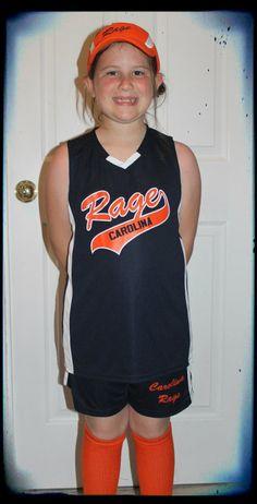 In her Carolina Rage uniform :)