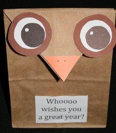 Classroom Freebies: Owl Treat Bags