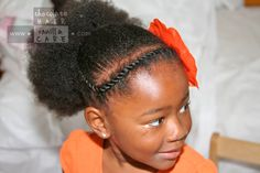 Single Puff with Protective Flat Rope Twist | Chocolate Hair / Vanilla Care