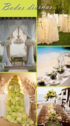 decoración bodas, bodas nocturnas, bodas diurnas, bodas