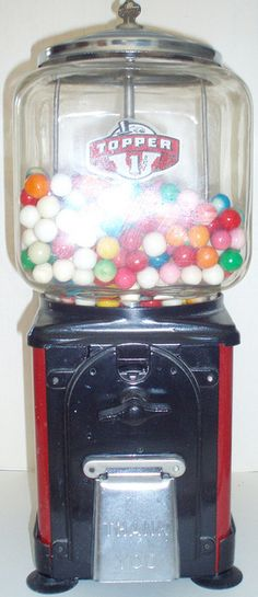 gumball machine, back when penny candy really was.