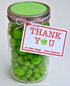 Teacher Appreciation Mason Jars