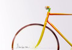 """I heart my bike!"" Fixed Gear entirely made out of Food"