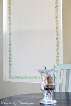Burlap Roller Shade Tutorial