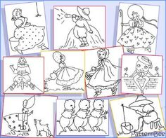 Nursery Rhyme Designs - 12 free designs for quilt blocks at the PatternBee