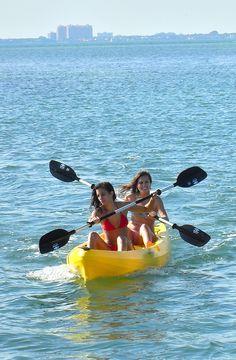 Paddle the bay in kayaks #Miami #Kayak #Lets_Paddle