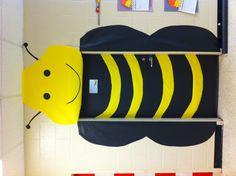 Bumblebee classroom door for spring.