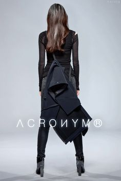 leauxnoir:  THAT JACKET!   Always hnnnnng black clothes, acronym gmbh, style, jackets, cape hybrid, fashionproduct design, acronym vest