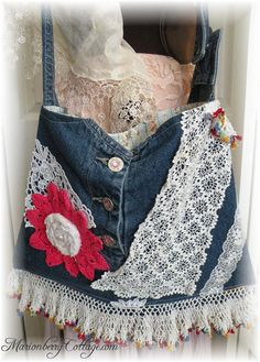 Praire cowgirl demin and lace handbag Gyspy