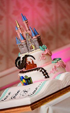 Wedding Cake Wednesday: Fairy Tale BookEver After Blog | Disney Fairy Tale Weddings and Honeymoon