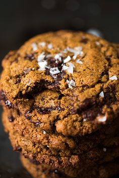 Chewy Dark Chocolate Chunk Cookies with Sea Salt