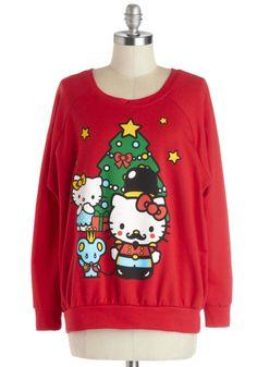 Hello Holidays Sweatshirt | Mod Retro Vintage T-Shirts | ModCloth.com