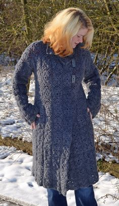 Anna Crochet Cardigan/Coat PDF Pattern