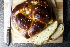 apple honey challah, sliced by smitten, via Flickr